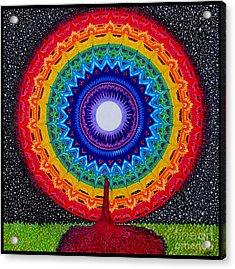 Chakra Tree Of Life Acrylic Print