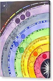 Chakras Acrylic Print by Catherine G McElroy