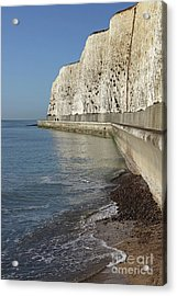 Chalk Cliffs At Peacehaven East Sussex England Uk Acrylic Print