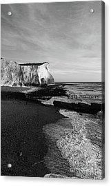 Chalk Cliffs At Seaford Head England Acrylic Print by James Brunker