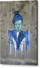 Chalk Person Acrylic Print by Dennis Curry