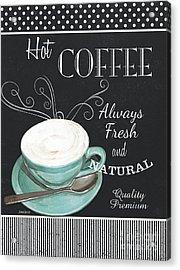Acrylic Print featuring the painting Chalkboard Retro Coffee Shop 1 by Debbie DeWitt