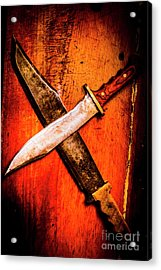 Challenging A Duel Acrylic Print