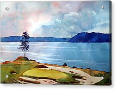 Chambers Bay 15th Hole Acrylic Print by Scott Mulholland