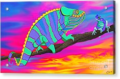Chameleon And Frog Acrylic Print