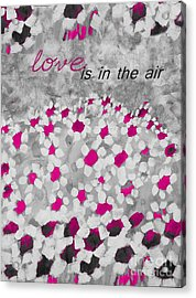 Champs De Marguerites - Love Is In The Air - Pink-05b Acrylic Print by Variance Collections