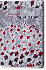 Champs De Marguerites - Love Is In The Air - Red -a23a3 Acrylic Print by Variance Collections