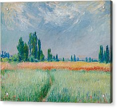 Acrylic Print featuring the painting Champ De Ble by Claude Monet