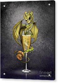 Champagne Dragon Acrylic Print