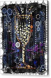 Champagne Flute Acrylic Print by Russell Pierce