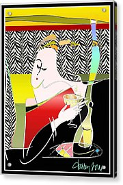 Champagne For One At The Zebra Lounge Acrylic Print