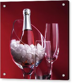 Champagne For Two Acrylic Print by Tom Mc Nemar
