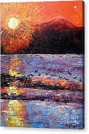 Champagne Sunset.  Acrylic Print