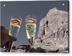 Champagne Wish Acrylic Print by Angie Wingerd