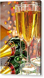 Champagne Wishes Acrylic Print