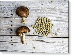 Champignons, Peas And Pepper Acrylic Print