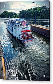 Acrylic Print featuring the photograph Champlain Canal Patriot by Kendall McKernon
