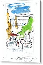 Champs Elysee Paris Acrylic Print