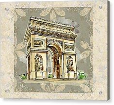 Champs Elysees Paris Acrylic Print by Bedros Awak