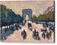 Champs Elysees Paris Acrylic Print