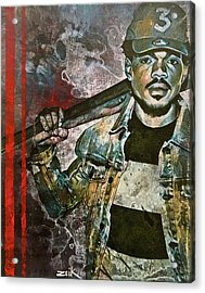 Chance The Baseball Fury Acrylic Print by Bobby Zeik