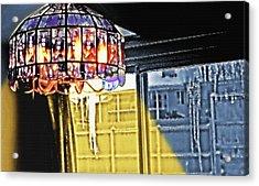 Chandelier - Warm Glow Acrylic Print by Steve Ohlsen