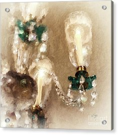 Chandelier At Winterthur Acrylic Print by Lois Bryan