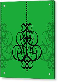 Acrylic Print featuring the photograph Chandelier Delight 1- Green Background by KayeCee Spain