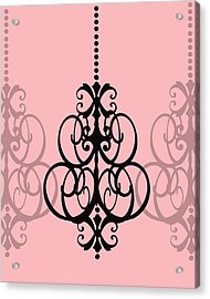 Chandelier Delight 1- Pink Background Acrylic Print