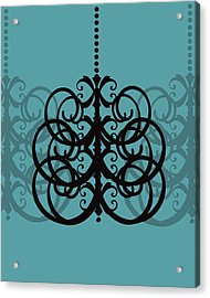 Acrylic Print featuring the photograph Chandelier Delight 2- Blue Background by KayeCee Spain