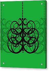 Acrylic Print featuring the photograph Chandelier Delight 2- Green Background by KayeCee Spain