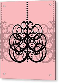 Acrylic Print featuring the photograph Chandelier Delight 2- Pink Background by KayeCee Spain