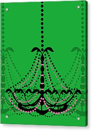 Acrylic Print featuring the photograph Chandelier Delight 3- Green Background by KayeCee Spain