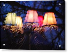 Chandelier In The Trees Acrylic Print by Peter  McIntosh