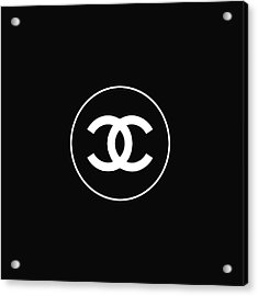 Chanel - Black And White 02 - Lifestyle And Fashion Acrylic Print