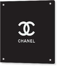 Chanel - Black And White 03 - Lifestyle And Fashion Acrylic Print