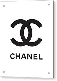 Chanel - Black And White 04 - Lifestyle And Fashion Acrylic Print