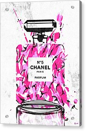 Chanel No. 5 Pink Army Acrylic Print by Daniel Janda