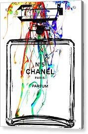 Chanel No. 5 Watercolor Acrylic Print by Daniel Janda
