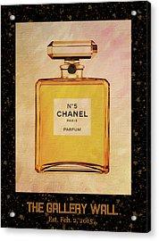 Chanel No.5 Parfum Bottle 1 Acrylic Print by Sandi OReilly