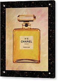 Chanel No.5 Parfum Bottle 2 Acrylic Print by Sandi OReilly