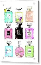 Chanel Perfume Set 9er Acrylic Print