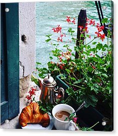 Chanel View Breakfast In Venezia Acrylic Print