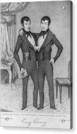 Chang And Eng, 1811-1874, Conjoined Acrylic Print by Everett