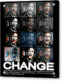 Change  - Barack Obama Acrylic Print
