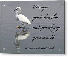 Change Acrylic Print