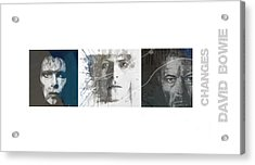 Changes David Bowie Triptych Acrylic Print