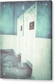 Changing Room Doors Acrylic Print by Tom Gowanlock