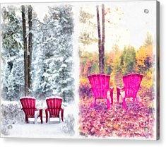 Changing Seasons Anderson Pond Eastman Grantham New Hampshire Acrylic Print