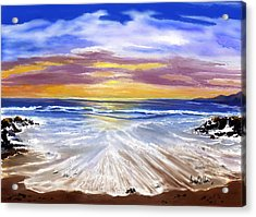 Acrylic Print featuring the painting Changing Tide by Sena Wilson